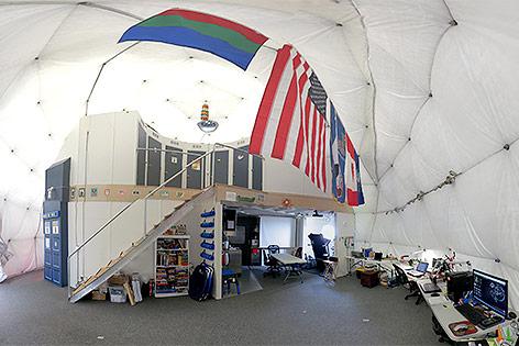 HI-SEAS-Kuppel von Innen