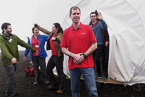 Wissenschaftler verlassen die HI-SEAS-Kuppel auf Hawaii