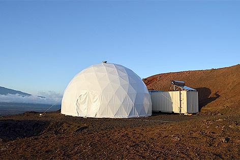 HI-SEAS-Kuppel von Außen