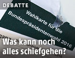 Kaputte Wahlkarte