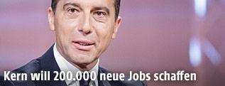 Bundeskanzler Kern beim ORF-Sommergespräch