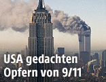Rauch über dem World Trade Center
