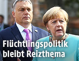 Ungarns Premier Victor Orban und Bundeskanzlerin Angela Merkel