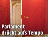 Offene Tür in der Präsidentschaftskanzlei
