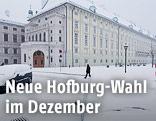 Präsidentschaftskanzlei im Winter