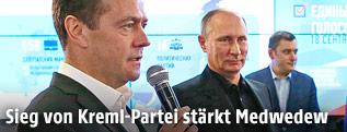 Russischer Premier Medwedew und Präsident Putin