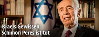 Schimon Peres während eines Interviews im Juli 2014