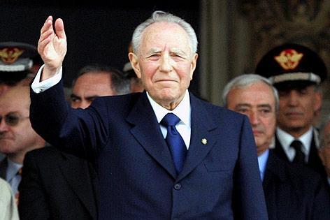 Der ehemalige italienische Präsident Carlo Azeglio Ciampi