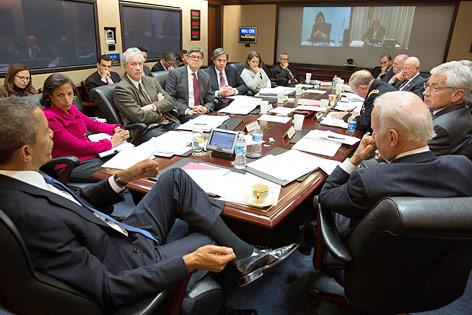 Besprechung mit US-Präsident Barack Obama