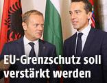 EU-Ratspräsident Donald Tusk und Bundeskanzler Christian Kern