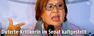 Die philippinische Senatorin Leila de Lima