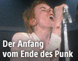 """Die Band """"The Sex Pistols"""" bei einem Konzert im Jahr 1976"""