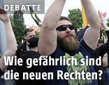 Die Identitäre Bewegung Österreich bei einer Demonstration