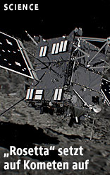 Rosetta setzt auf Kometen Tschuri auf