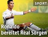 Ronaldo sitzt am Boden