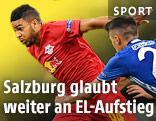 Szene aus dem Match Salzburg gegen Schalke