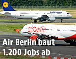 Flugzeuge der Lufthansa und der Air Berlin