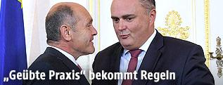 Innenminister Wolfgang Sobotka und Verteidigungsminister Hans Peter Doskozil