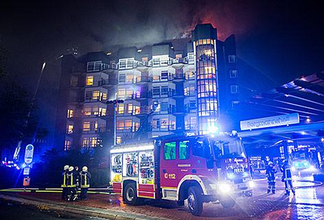 Feuer in einem Krankenhaus