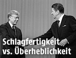 Jimmy Carter und Ronald Reagan