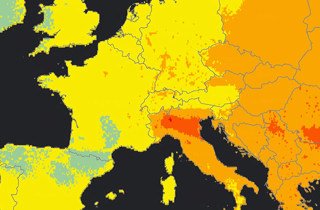 Screenshot maps.who.int/airpollution/