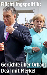 Ungarns Premier Viktor Orban und die deutsche Bundeskanzlerin Angela Merkel
