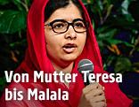 Malala Yousafzai, Friedensnobelpreisträgerin aus dem Jahr 2014