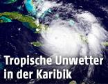 Hurrikan über der Karibik