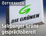 """Schild """"Die Grünen"""""""