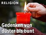 Kerze wird angezündet