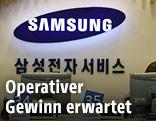 Samsung-Logo an der Wand