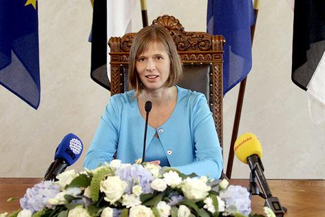 Neue estnische Präsidentin Kersti Kaljulaid