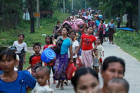 Flüchtlinge in Myanmar