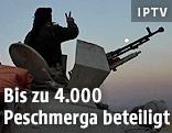 Peschmerga-Kämpfer auf einem Panzerfahrzeug