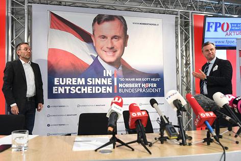 Aktuelles Plakat von Präsidentschaftskandidat Norbert Hofer