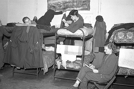 Ungarische Flüchtlinge in Wiener Neustadt, 1956