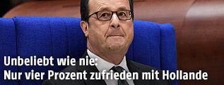 Der französische Staatspräsident Francois Hollande