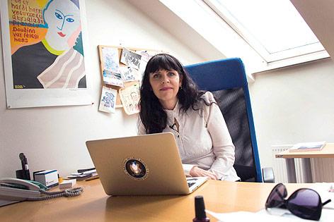Die Vorsitzende der Piraten, Birgitta Jonsdottir
