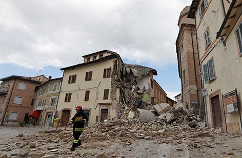 Zerstörtes Haus in Italien