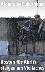 Abrissarbeiten beim Atomkraftwerk Fukushima
