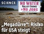 """Schild in Kalifornien mit der Aufschrift """"Ohne Wasser keine Jobs"""""""