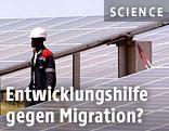 Arbeiter der neu errichteten Solaranlage in Bokhol, Senegal