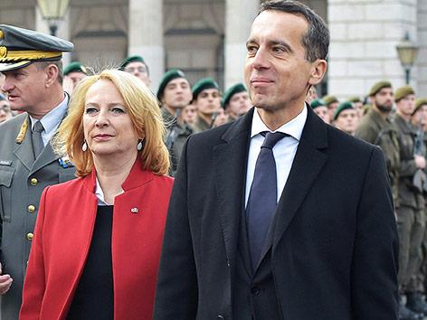 Nationalratspräsidentin Doris Bures und Bundeskanzler Christian Kern