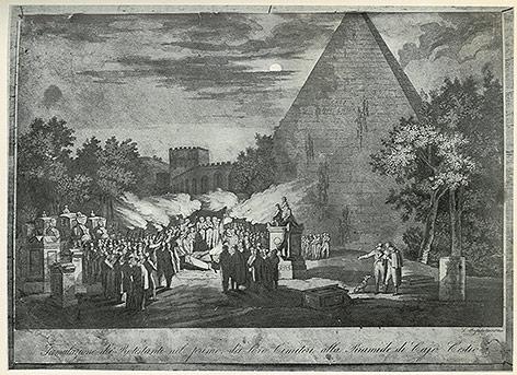 Bildnis zeigt protestantischen Friedhof in Rom