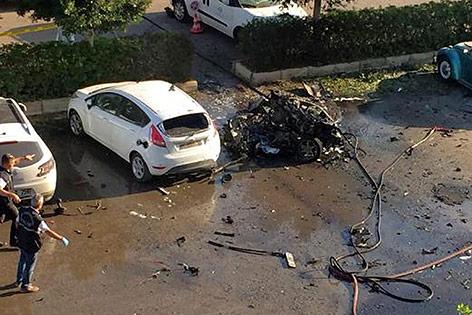 Autowrack nach Explosion