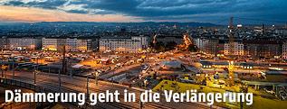 Dämmerung über Wien