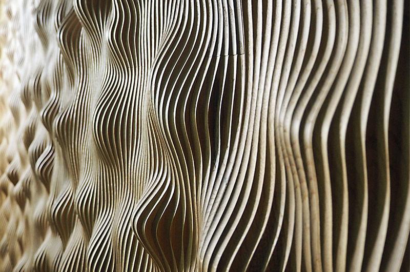 Akustische Haut des kleinen Saals der Elbphilharmonie