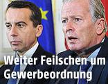Bundeskanzler Christian Kern (SPÖ) und Vizekanzler Reinhold Mitterlehner (ÖVP)