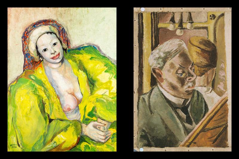 Mariette Lydis: Orientalin; Marie-Louise Motesiczky: Menschen im Zug