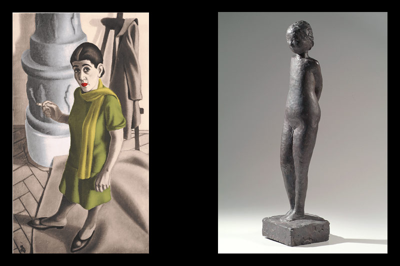 Bettina Ehrlich-Bauer: Selbstporträt; Anna Mahler: Childgirl